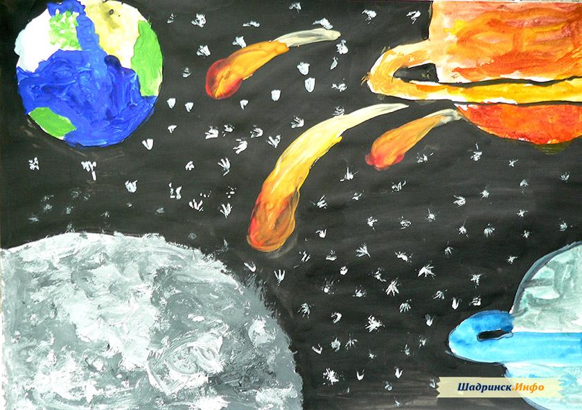 Фантастические рисунки космоса и планет