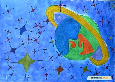 Рисунки космоса на стене